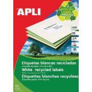 Etichete autoadezive Apli, din hartie reciclata, 14/A4, 1400 buc imagine librariadelfin.ro