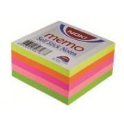 Cub notite autoadezive Noki, 76x76 mm, 400 file, culori neon imagine librariadelfin.ro