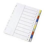 Separatoare cu index color, A4, index 1-10 imagine librariadelfin.ro