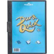 Dosar cu clip Duraquick, 20 coli, negru imagine librariadelfin.ro