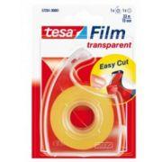 Banda adeziva de birou transparenta Tesa cu dispenser, 19mm x 33m imagine librariadelfin.ro
