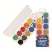 Acuarele Morocolor cu pensula, diametru pastila 25 mm, 12 culori/set imagine librariadelfin.ro