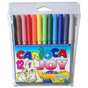 Markere Carioca Joy, varf 2 mm, 12 culori/set imagine librariadelfin.ro