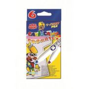 Markere pentru copii Carioca Art Cromatex pentru textile, 6 buc/set imagine librariadelfin.ro