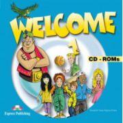 Welcome 1 CD-ROM (set 4 CD), Curs de limba engleza pentru clasa III-a imagine librariadelfin.ro