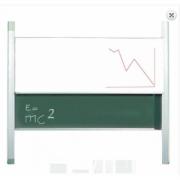 Tabla scolara verde cu 2 suprafete culisante pe verticala de 2000x1200mm (TSC2VP200) imagine librariadelfin.ro