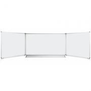 Tabla scolara triptica alba, metalo-ceramica magnetica, 2000x1200/4000 (TSTAE400) imagine librariadelfin.ro