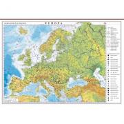 Europa. Harta fizica si politica 700x500 mm cu sipci (GHEF70)
