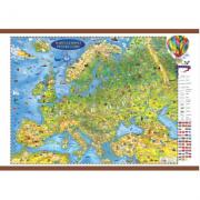 Europa harta pentru copii cu sipci 1600x1200mm (GHECP160)