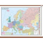Europa. Harta politica 1000x700 mm, cu sipci (GHC2P1) imagine librariadelfin.ro