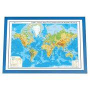 Lumea. Harta fizica si a substantelor minerale utile 3D 100x70 cm ( DLF3DGHLF100-M ) imagine librariadelfin.ro
