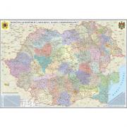 Romania si Republica Moldova. Harta administrativa 3500x2400 mm (GHR5CDG) imagine librariadelfin.ro