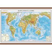 Harta fizica a lumii cu sipci 1600x1200 mm (GHLF160)