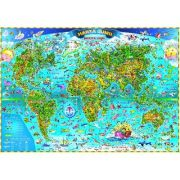 Harta lumii pentru copii 350x240 cm (DLFGHLCPG)