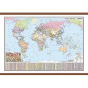Harta politica a lumii cu sipci 1600x1200 mm (DLFGHLP160) imagine librariadelfin.ro