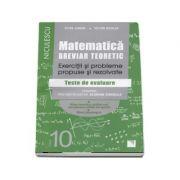 Matematica. Breviar teoretic cu exercitii si probleme propuse si rezolvate. Filiera teoretica, profil real, specialitatea stiintele naturii. Filiera T imagine librariadelfin.ro