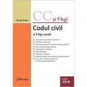 Codul civil si 9 legi uzuale. Editie actualizata 29 ianuarie 2018 imagine librariadelfin.ro