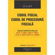 Codul fiscal. Codul de procedura fiscala. Editie actualizata 15 februarie 2017 imagine librariadelfin.ro
