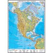 America de Nord. Harta fizica 1000x1400 mm (GHC10F) imagine librariadelfin.ro