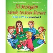 Sa dezlegam tainele textelor literare I. Clasa a IV-a. Semestrul I - Carmen Iordachescu, Dana Dogaru imagine librariadelfin.ro