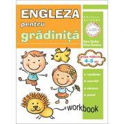 Limba engleza pentru gradinita. Grupa mijlocie 4-5 ani. Workbook - Aura Stefan, Arina Damian imagine librariadelfin.ro