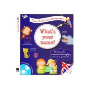 What's your name? + CD - I learn English with Peter and Emily - Larousse imagine librariadelfin.ro