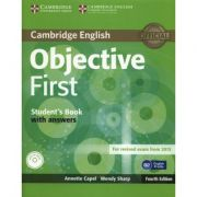 Objective First 4th Edition Student's Book with answers with CD-ROM imagine librariadelfin.ro