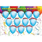 Calendarul Zilelor de Nastere - Plansa educativa imagine librariadelfin.ro