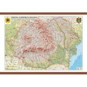 Romania si Republica Moldova. Harta fizica, administrativa si a substantelor minerale utile 1400x1000 mm (GHRCD) imagine librariadelfin.ro