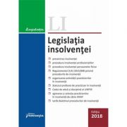 Legislatia insolventei editie actualizata la 15 octombrie 2018 imagine librariadelfin.ro
