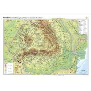 Romania. Harta fizico-geografica si a resurselor naturale de subsol - CR-3101A 160x120 cm