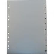 Separatoare Noki, din plastic, cu index 1-10 imagine librariadelfin.ro