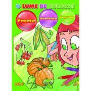 O lume de colorat: fructe, seminte, legume