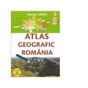 Atlas geografic scolar Romania - Marius Lungu imagine librariadelfin.ro