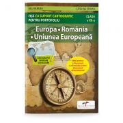 Europa. Romania. Uniunea Europeana. Fise cu suport cartografic pentru portofoliu - Nela Burcea, Catalina Serban imagine librariadelfin.ro