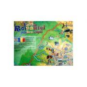 Harta Romaniei pentru copii imagine librariadelfin.ro