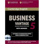 Business 5 Vantage: Student's Book (Answers and 2x CDs)
