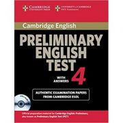 Cambridge: Preliminary English Test 4 (with answers, Examination Papers from the University of Cambridge ESOL Examinations)