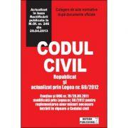 Codul civil actualizat. Republicat si actualizat prin Legea nr. 60/2012 imagine librariadelfin.ro