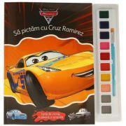 Masini 3. Sa Pictam Cu Cruz Ramirez. Carte De Colorat Cu Pensula Si Acuarele - Disney