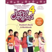 Happy Campers 4. Student Book and Workbook. Clasa a IV-a - Patricia Acosta imagine librariadelfin.ro