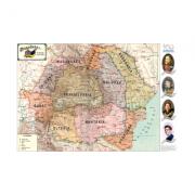 Harta Romaniei pe regiuni 1919-1940 imagine librariadelfin.ro