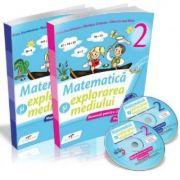 Matematica si explorarea mediului. Manual pentru clasa a II-a, partea I si partea a II-a, cu CD - Iliana Dumitrescu, Nicoleta Ciobanu, Alina Carmen Bi imagine librariadelfin.ro