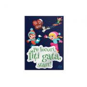Carte jocuri pentru copii - Pe locuri, fiti gata, START! 9-11 ani + set carioci oferit GRATUIT