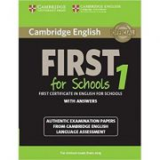 Cambridge English First 1 for Schools for Revised Exam from 2015 Student's Book with Answers: Authentic Examination Papers from Cambridge English Lang