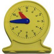 Ceas demonstrativ din plastic colorat cu diametrul de 10 cm imagine librariadelfin.ro