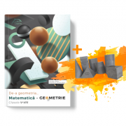 De-a geometria… Matematica - GEOMETRIE Clasele V-VIII + Set 7 corpuri geometrice 3D oferite gratuit imagine librariadelfin.ro