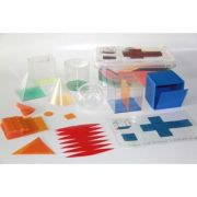 Set 6 corpuri geometrice - forme desfasurate din plastic imagine librariadelfin.ro