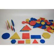 Set Tangram 60 piese - din lemn reciclat imagine librariadelfin.ro