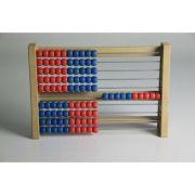 Abac - Instrument pentru copii cu 10 siruri a cate 10 bile colorate (MAW) imagine librariadelfin.ro